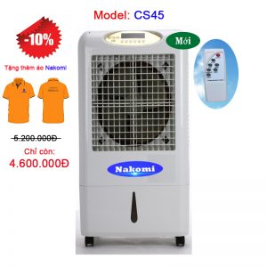 Thông số kỹ thuật: – Lượng Gió (m3/h): 4500 – Điện áp/Tần số (V/Hz) : 220/50 – Công suất(W) : 230 – Lượng nước tiêu hao (L/h) : 3-5 – Lượng nước trù bị (L) :28 – Kích thước ngoài L*W*H (mm) : 650*410*1005 – Trọng lượng (kg) : 14-16 – Độ ồn (dB) : ≤ 55 – Diện tích làm mát (m2) : 15-30 – Dòng điện (A) : 1.45