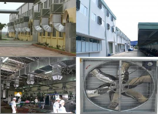 Đánh giá hiệu quả hoạt động của hệ thống thông gió làm mát công nghiệp