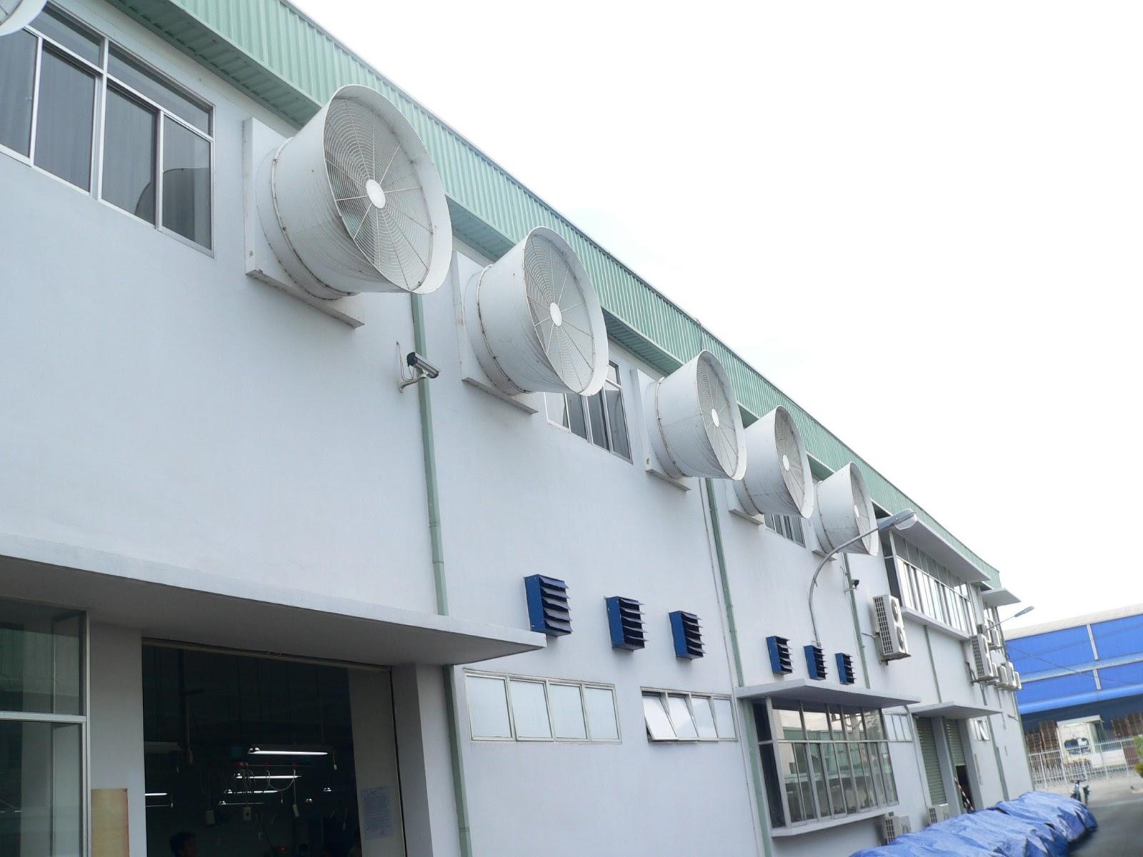 Đi tìm nguyên lý hoạt động của quạt thông gió trong làm mát nhà xưởng